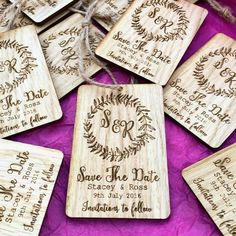 Rustic Tag Magnet Save the Date   Save the date   Wedding invites   Wedding   Engraved   Wooden save the dates   Personal   Quirky save the dates   Wooden wedding invites