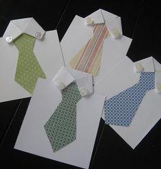Paquete envoltorio de una corbata, pañuelos, una cartera... o algo que sabéis que le gusta. (foto) Quereis ideas para regalar a papá en este día tan especial?? Aquí tenéis ...  Dibujos para colgar en las botellas (foto)  ¿Que esconderán estas peculiares camisas? (foto)  Un DIY simulando ser su teléfono lleno de notitas cariñosas. (foto)  Una felicitación hecha en casa, una manualidad que a los niños les encantará realizar con los utensilios que utiliza papá en el trabajo. (foto)