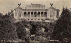The Military Museum in Carol I Park, postcard no lush garden today, all gone. Bucharest Romania, Lush Garden, Communism, Old Pictures, Time Travel, Renaissance, Taj Mahal, Dan, Museum