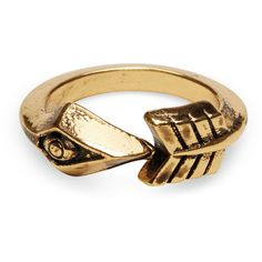 956097a3d5ba TOMS Gold Arrow Ring ( 27) ❤ liked on Polyvore featuring jewelry