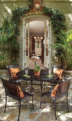 The Verano collection from Summer Classics is the perfect wrought iron patio furniture collection for any outdoor space. #summerclassics #frontgate