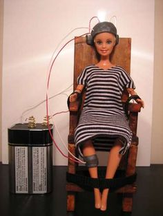 Barbie Doll Electric Chair Science Fair Project! Ha!