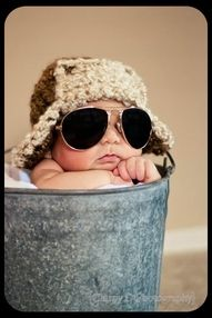 adorable - newborn photo aviators