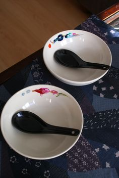 cuenco 14cm con cuchara cerámica negra