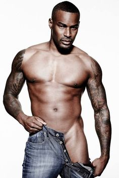 9510e57f6ae Now that s some serious eye candy right there. Tyson Beckford poses nearly  nude and completely shirtless for British Cosmopolitan s July 2013 issue.