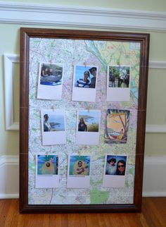 Vacation memories photo display DIY project with My Kodak Moment social prints. #vacation #photo #photography