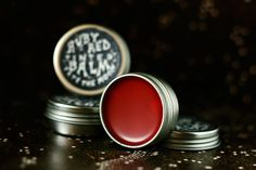 This ruby, flaming, opium poppy red tint for your lips is a great handmade stocking stuffer gift idea for teens and women!