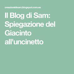 Il Blog di Sam: Spiegazione del Giacinto all'uncinetto