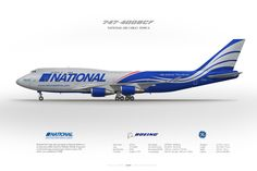 Boeing 747-400BCF National Airlines N919CA   Civil aircraft art print   www.aviaposter.com   #scetch #art #airliners #aviation #aviaposter #jetliner