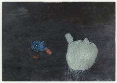 """Susan Rothenberg  Strangers in the Night / 2009-10  oil on canvas / 81 x 115.25"""""""