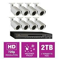 Q-See 8 Channel HD NVR Security System with 2TB Hard Drive, 8 720p IP Cameras, and 100' Night Vision