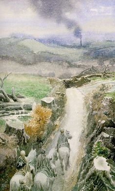 The Scouring of the Shire -- Alan Lee.