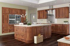 kitchen walnut cabinets light floor