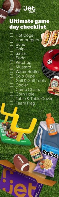 What's football without a tailgating party? From fun tailgating games to easy tailgate food, we've got everything you could need to party all season. So get ready to kick off football season with Jet.com! Find everything you need from football decorations to tailgating food, snacks, and more.