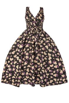 Ladies-Retro-Vintage-50s-Rockabilly-Swing-Summer-Party-Pin-Up-Prom-Floral-Dress