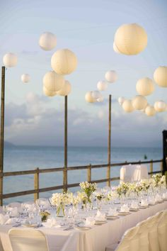 'Floating Paper Lanterns' create a magical vibe for both ceremonies & receptions.