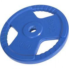 Olympische halterschijf 20 kg Gripper Gietijzer (50 mm, rubber coating)