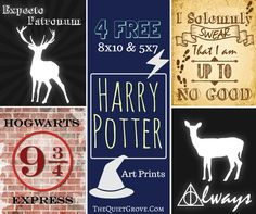 4 FREE Harry Potter Art Printables