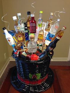 Gift Basket Ideas For Men Pinterest Men's gift basket....great for