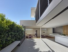 This unique cottage located in Sydney, Australia was lately utterly redesigned by Nobbs Radford Architects. Go to Nobbs Radford Architects Unique Cottages, Smooth Concrete, Interior Architecture, Interior Design, Residential Architecture, Architecture Portfolio, Stucco Walls, Outdoor Bathrooms, Outdoor Spaces