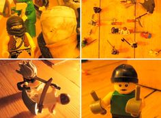 a LEGO stop-motion duel