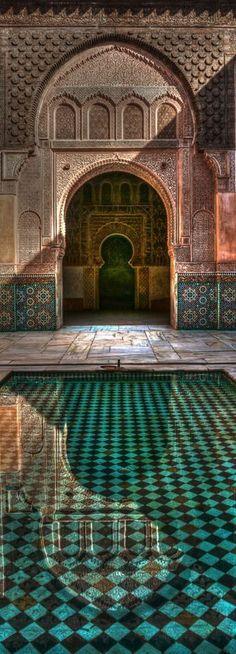 Medersa Ben Youssef, Marrakech  Marruecos Turismo Acesse no Site para informações http://storelatina.com/travelling  #marruecos #morroco #travelmorroco #marrocos