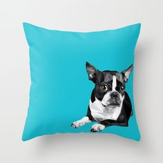 Vectorized Boston Terrier tote bag or pillow by RandomOasis