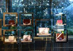 Tods interior display, Milan visual merchandising