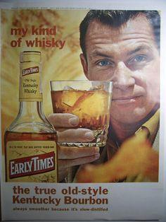 =-=1963 EARLY TIMES KENTUCKY Bourbon Advertisement