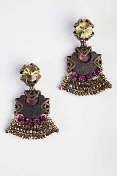 Jean Louis Blin Fan Earrings