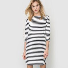Sukienka w paski 100% bawełny R Essentiel | La Redoute