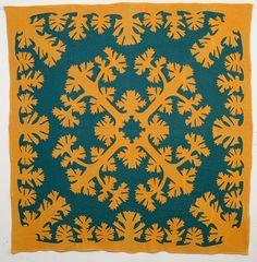Hawaiian Applique Quilt circa 1930.  Stella Rubin Antiques.