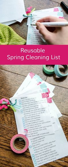 Craftaholics Anonymous® | The gift of cleaning, and organization is here! This DIY cleaning list idea has made everyone's life easier.
