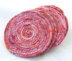 Cranberry Coasters Set of Six by PiecefulDesign on Etsy, $18.00