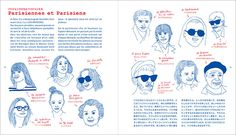 Les Adresses Parisiennes d'Une Parisienne , edited and published by édition Paumes. イザベル・ボワノ著『パリジェンヌのお散歩パリ案内』より