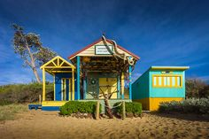 Mornington Beach, Victoria Beach Huts, Beach Cottages, Australian People, Victoria Australia, Shelters, Seaside, Shed, Cabin, House Styles