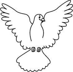 Paloma del espíritu santo para dibujar - Imagui