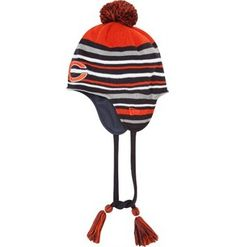 Chicago Bears Roaring Fan Tassel Knit Cap