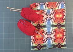 Sacca porta lavoro in tela di microfibra. #thecolorsoup #tutorial #handmade #diy #sewing