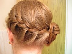 Diagonal braid. I love this look on me and its nice to keep my hair off my neck and out of my face when it is hot, I am wearing scarves or teaching!