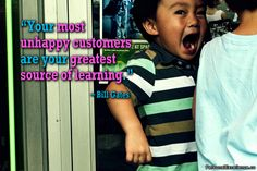 """""""Your most unhappy customers are your greatest source of learning."""" ~ Bill Gates #inspirational #quotes #learning #growth #business"""