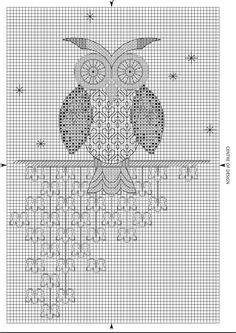 hibou Blackwork Cross Stitch, Cross Stitch Owl, Blackwork Embroidery, Simple Cross Stitch, Cross Stitch Charts, Cross Stitching, Cross Stitch Embroidery, Cross Stitch Patterns, Blackwork Patterns