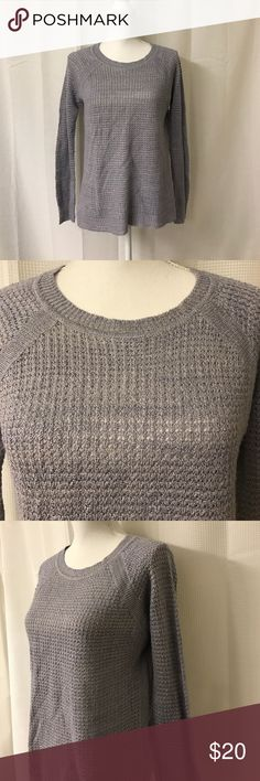 Knitted Blue J. crew Sweater Size Xsmall, in excellent condition J. Crew Sweaters Crew & Scoop Necks