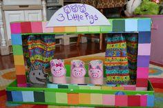 Ροζ και πράσινο Mama: ReCycle Craft: Χαρτόνι Κουκλοθέατρο Box