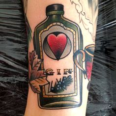 I would get a gin tattoo in a second, but a Hendricks bottle | Cassandra Frances