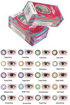 Magic Gold Contact Lenses  - Deep Violet