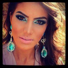 Turquoise and smoke! makeupbycamilla