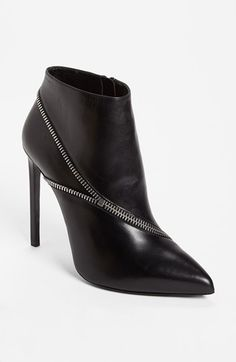 Saint Laurent Zipper Bootie | Nordstrom - if I had $995 and if I can walk like a runway model with these.