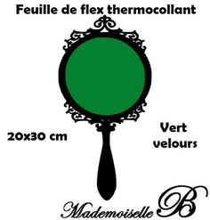 Feuille de flex thermocollant Vert velours 20x30 cm : Déco, Customisation Textile par feuille-de-flex-thermocollant
