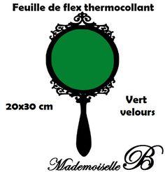 Feuille de flex thermocollant Vert velours 20x30 cm : Déco, Customisation Textile par feuille-de-flex-thermocollant